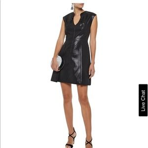 Cutout metallic ponte mini dress